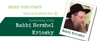 Interview with Rabbi Hershel Krinsky