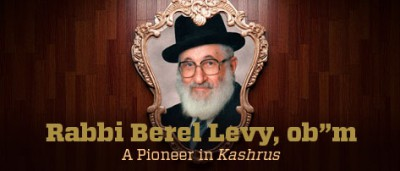 "Rabbi Berel Levy ob""m"