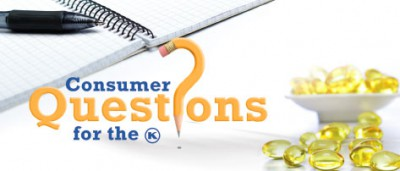 Consumer Questions – Pesach 5773
