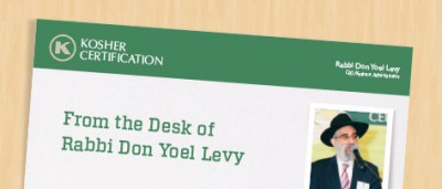 From the Desk of Rabbi Don Yoel Levy