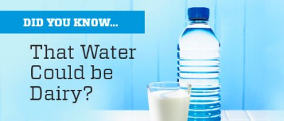 Did You Know…That Water Could be Dairy?