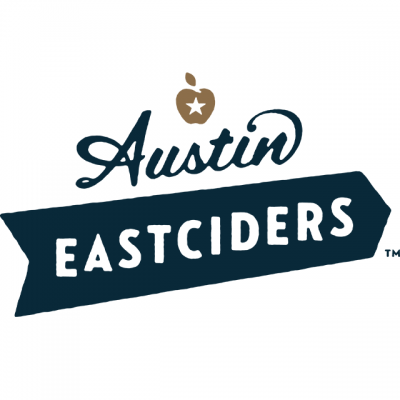 """""""Austin Eastciders"""" Logo With An Apple With A Star In The Center"""