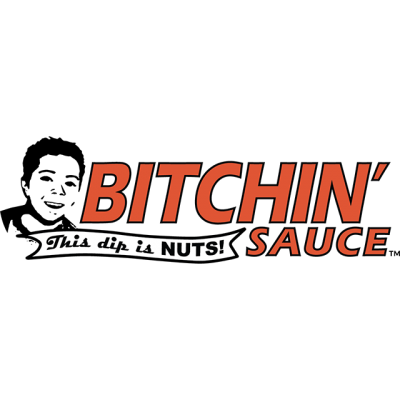 """""""Bitchin' Sauce"""" Logo: """"This Dip Is NUTS!"""""""