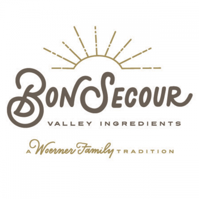 """""""Bon Secour Valley Ingredients"""" Logo With """"A Woerner Family Tradition"""""""