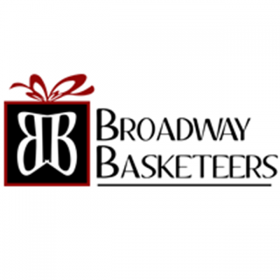 """""""Broadway Basketeers"""" Logo With Two B's In The Center Of A Present"""