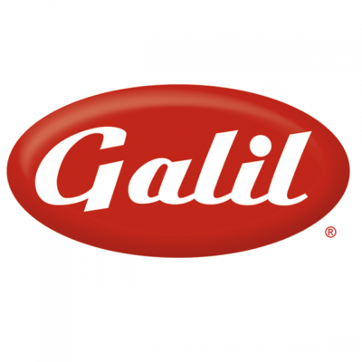 """""""Galil"""" White Lettered Logo In A Red Oval"""