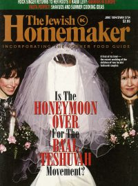 """Front Cover of """"The Jewish Homemaker"""" Magazine - Kosher Food Guide - June 1994"""