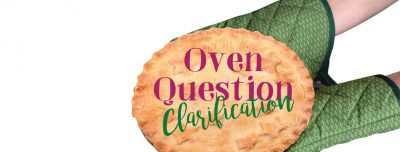 Oven Question Clarification