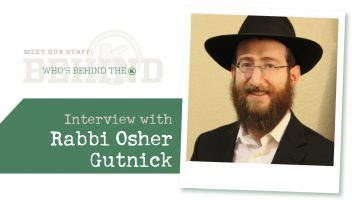 Interview with Rabbi Osher Gutnick