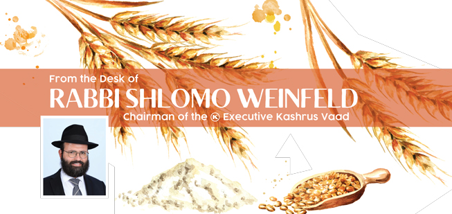 """""""From The Desk Of Rabbi Shlomo Weinfeld, Chairman Of The OK Kosher Executive Kashrus Vaad"""" With His Photograph And Drawings Of Wheat And Barley"""