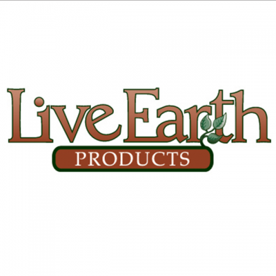 """""""Live Earth Products"""" Logo With A Drawn Branch"""