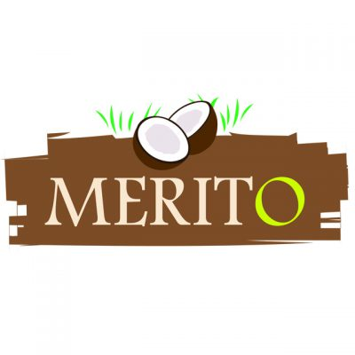 """Merit Food Products Logo: """"MeritO"""" With A Coconut"""