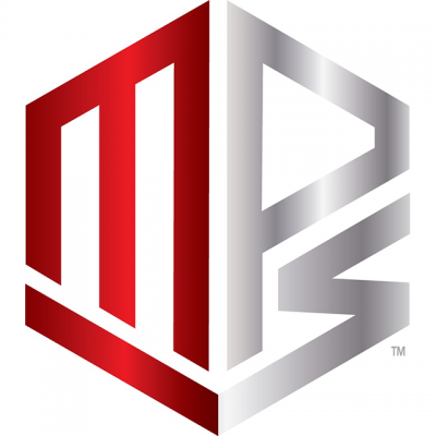 MPS Supplements Logo: A Red And Silver Design