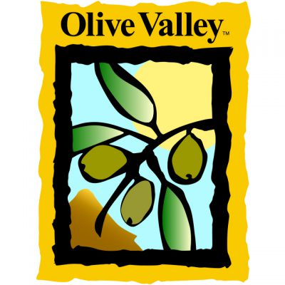 """Mount Olive Gourmet Foods, Inc Logo: """"Olive Valley"""" With A Drawing Of Olives Growing On A Branch"""