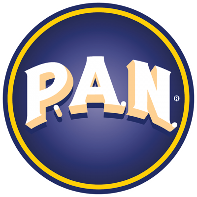"""""""P. A. N."""" In White Block Letters In The Center Of A Navy Blue Circle"""