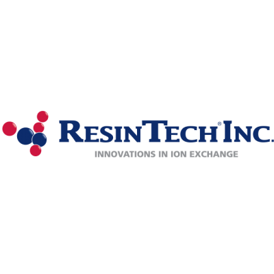 """""""ResinTech Inc: Innovations In Ion Exchange"""" Logo"""