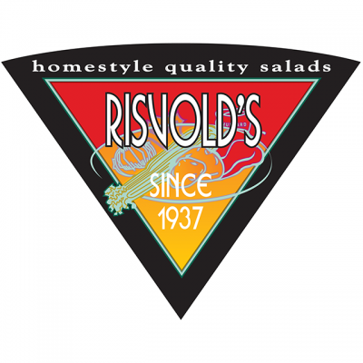 """""""Risvold's: Homestyle Quality Salads Since 1937"""" Logo"""
