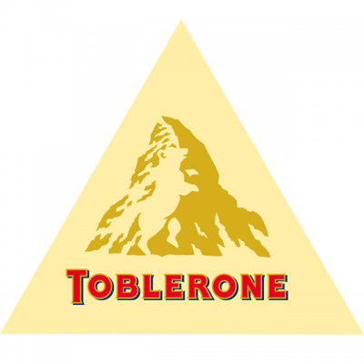 """""""Toblerone"""" Logo With A Figure Of A Bear On A Mountain Top"""