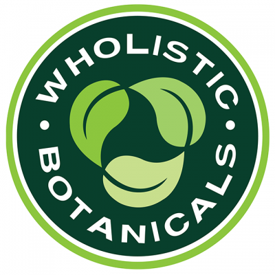 """""""Holistic Botanicals"""" Logo With 3 Leaves In The Center"""