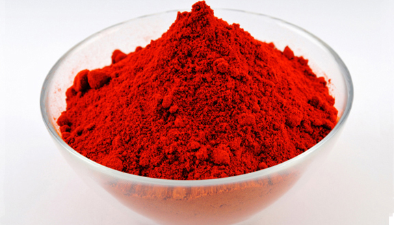 Bowl of Fermented Red Carmine Powder for Kosher Food Creation