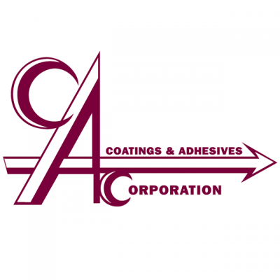 """""""Coating & Adhesives Corporation"""" Logo In Maroon Letters"""