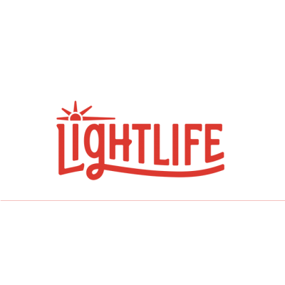 """""""Lightlife"""" Logo With A Peaking Sun"""