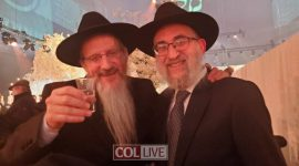 Rabbi Levy Travels to Moscow to Celebrate with Russia's Chief Rabbi Berel Lazar
