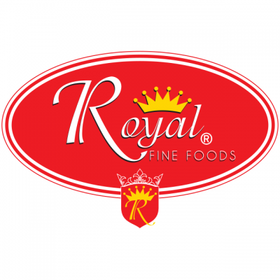 """""""Royal Fine Foods"""" Logo With A Golden Crown"""