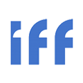 """IFF Brand Logo: """"IFF"""" Blue Letters"""